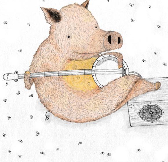 DUELING BANJO PIGS!